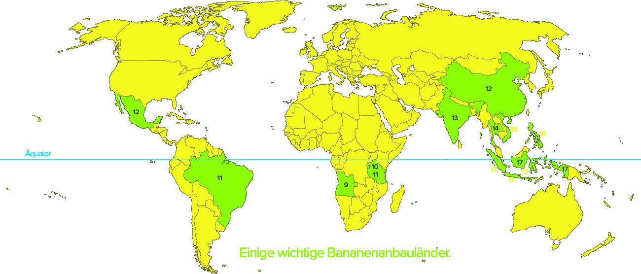 Bananenanbauländer und -gebiete