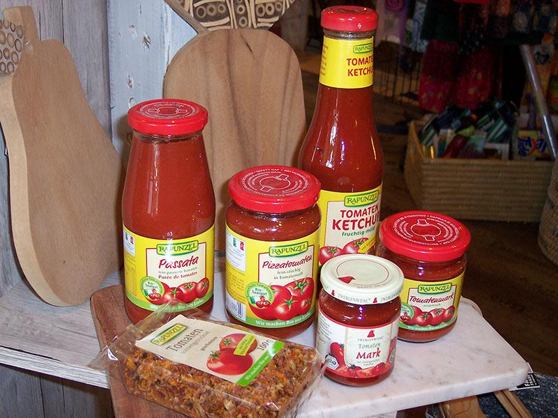 Bio-Tomatenprodukte